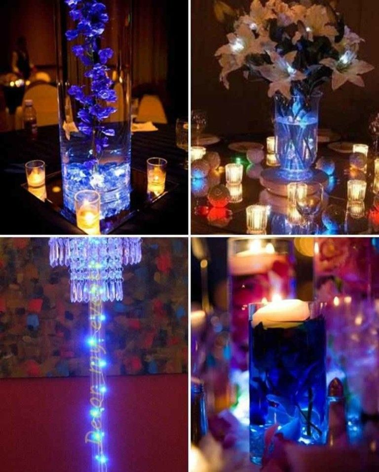Centros de mesa con luces centerpiece pinterest - Decoracion con luces ...