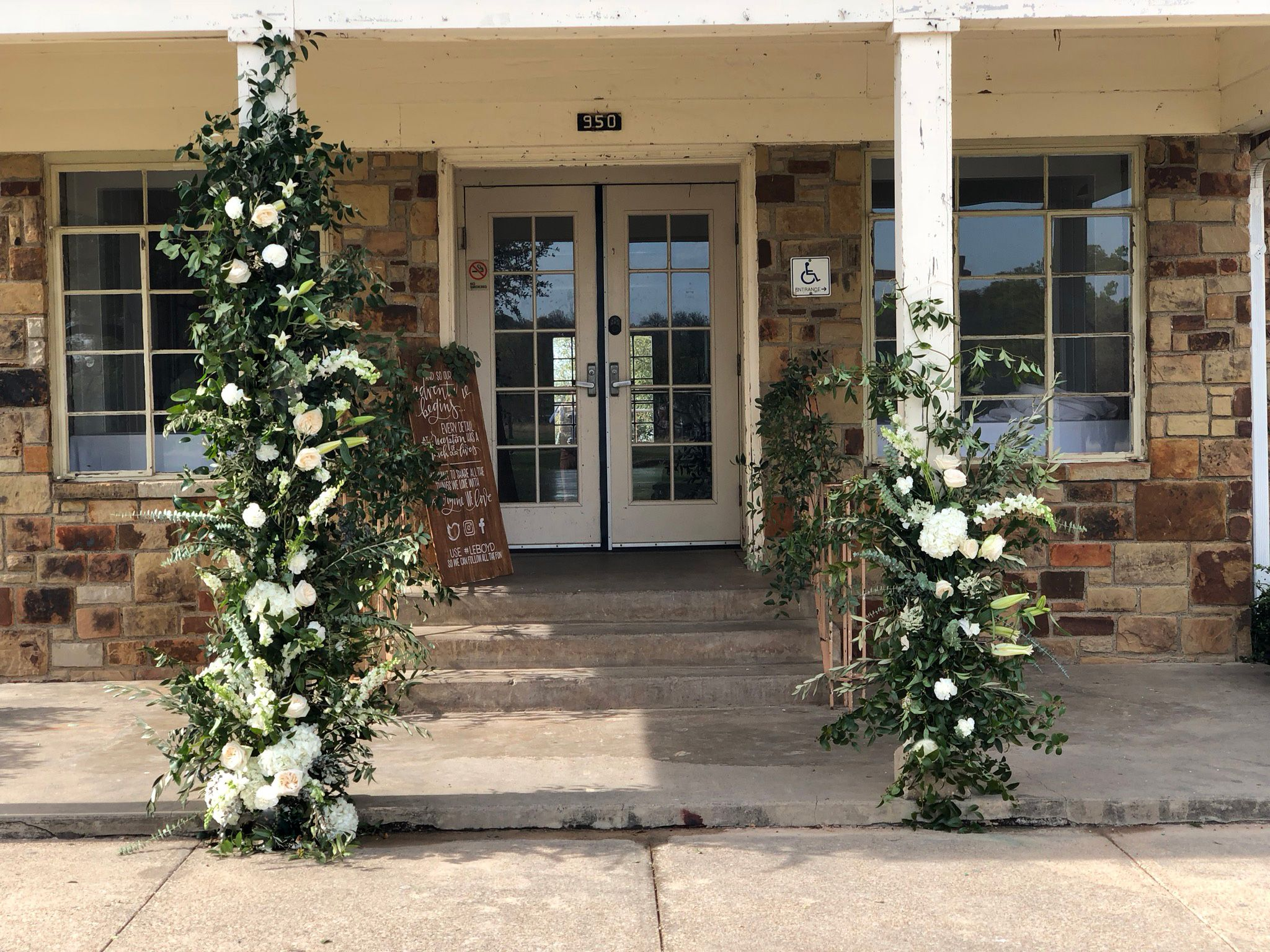 Wedding Installation And Floral Entrance Arch With Wedding