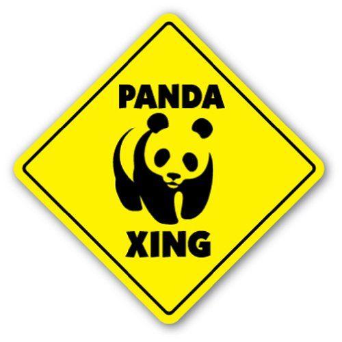 Amazon.com : PANDA CROSSING - Sign - xing signs bear zoo china gift : Home Decor Products : Patio, Lawn & Garden