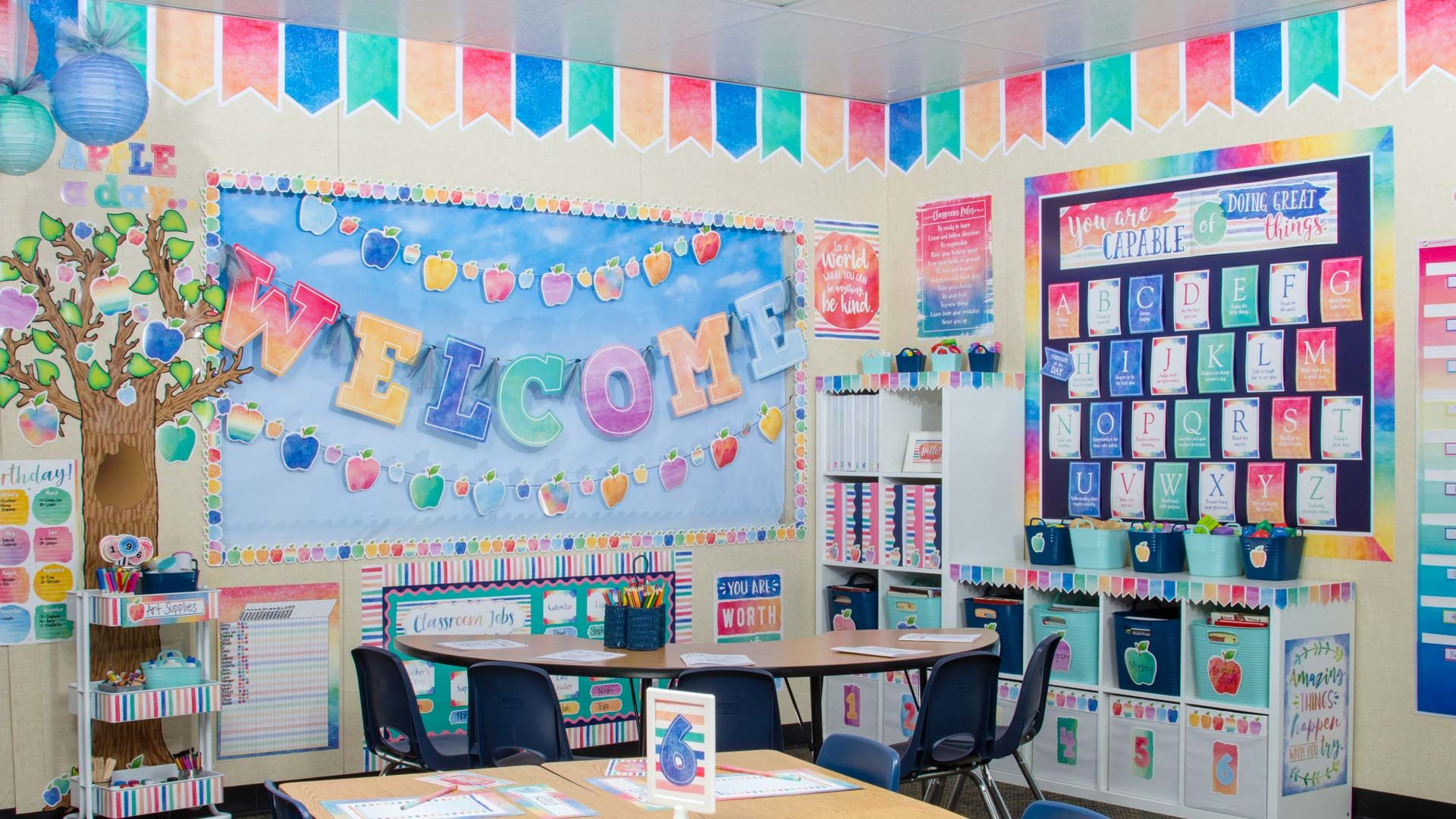 Watercolor Themed Decorations For Your Classroom Ms
