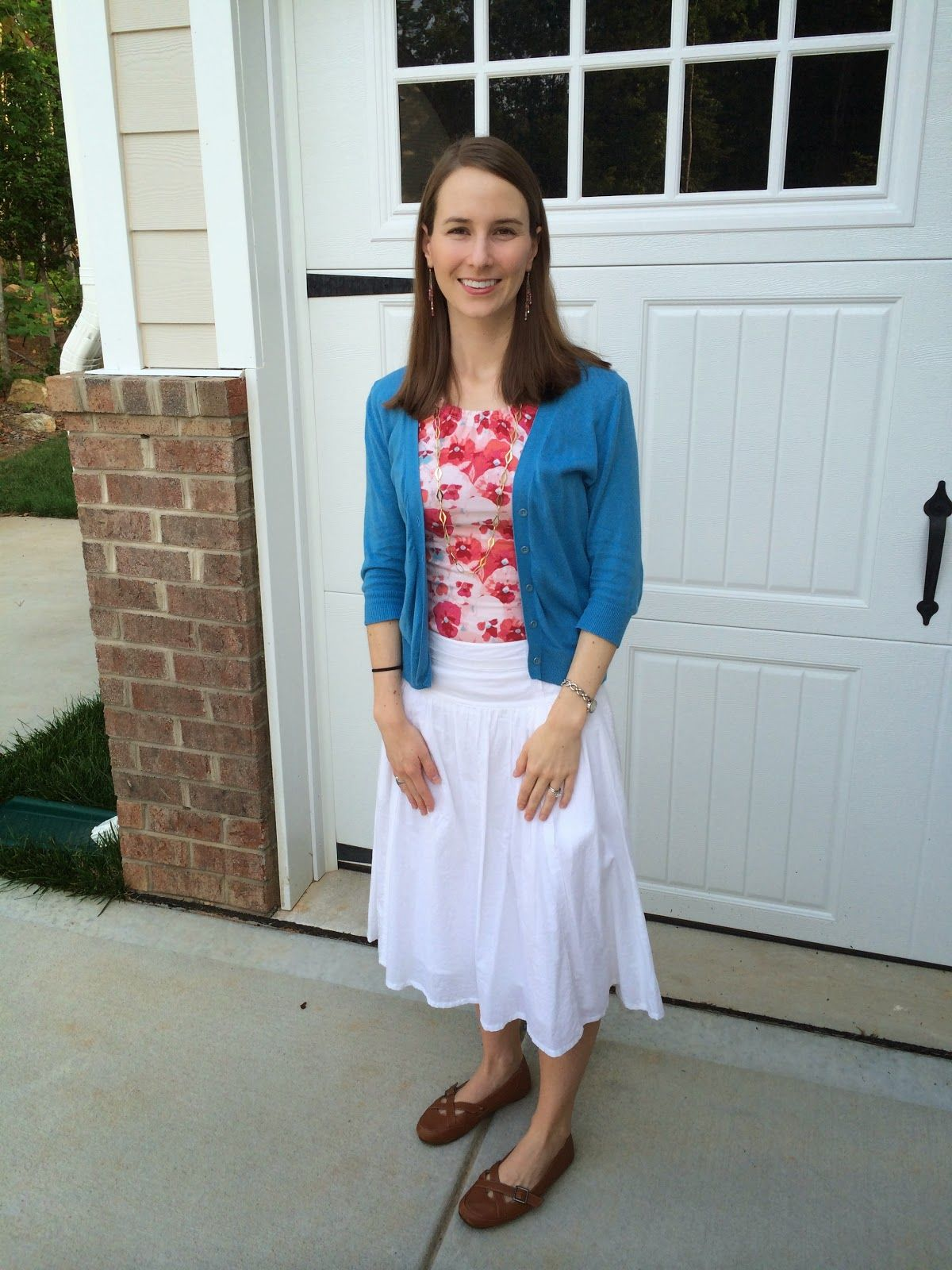 What I Wore: White + Floral = So Summery - LaForce Be With You
