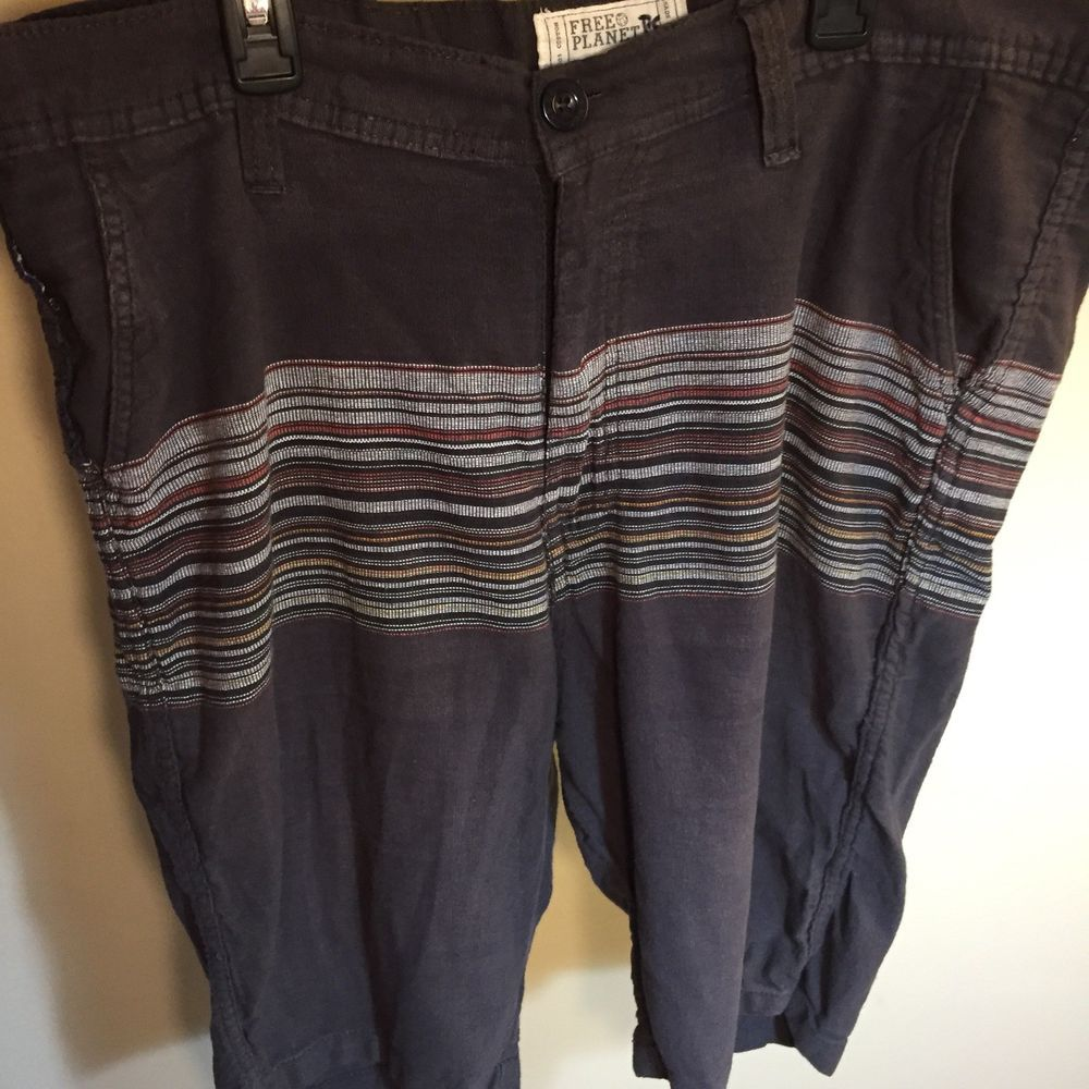 Free Planet Mens Brow Shorts Size 38 Fashion Clothing Shoes