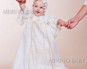 GLORIA flor vestido de niña vestido vestido de bautizo