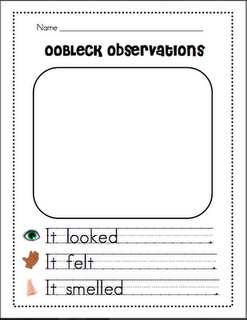 Great Observation Template Dr Seuss Oobleck Science Aula