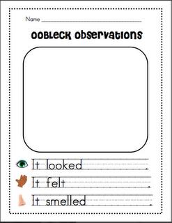 Oobleck Observations Sheet