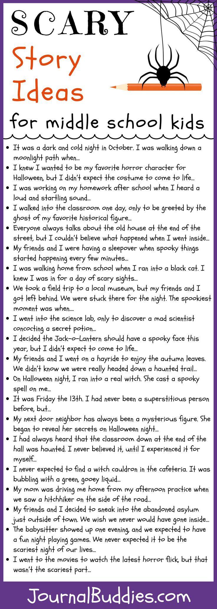 halloween journal prompts middle school | Zozogame co