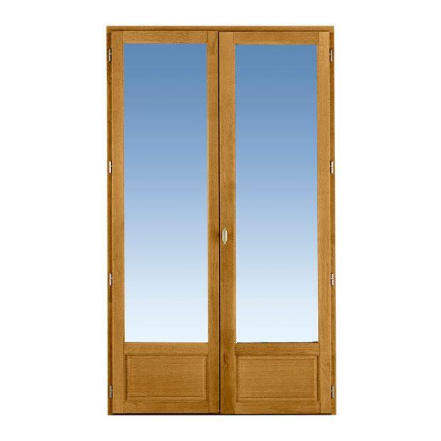 Porte-fenêtre Ode Chêne 2 Vantaux à Clé