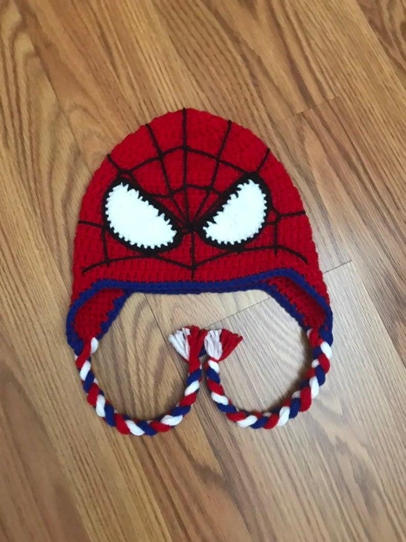 Crochet Spiderman Hats : crochet, spiderman, Spiderman, Crochet, Spider-Man, Crochet,