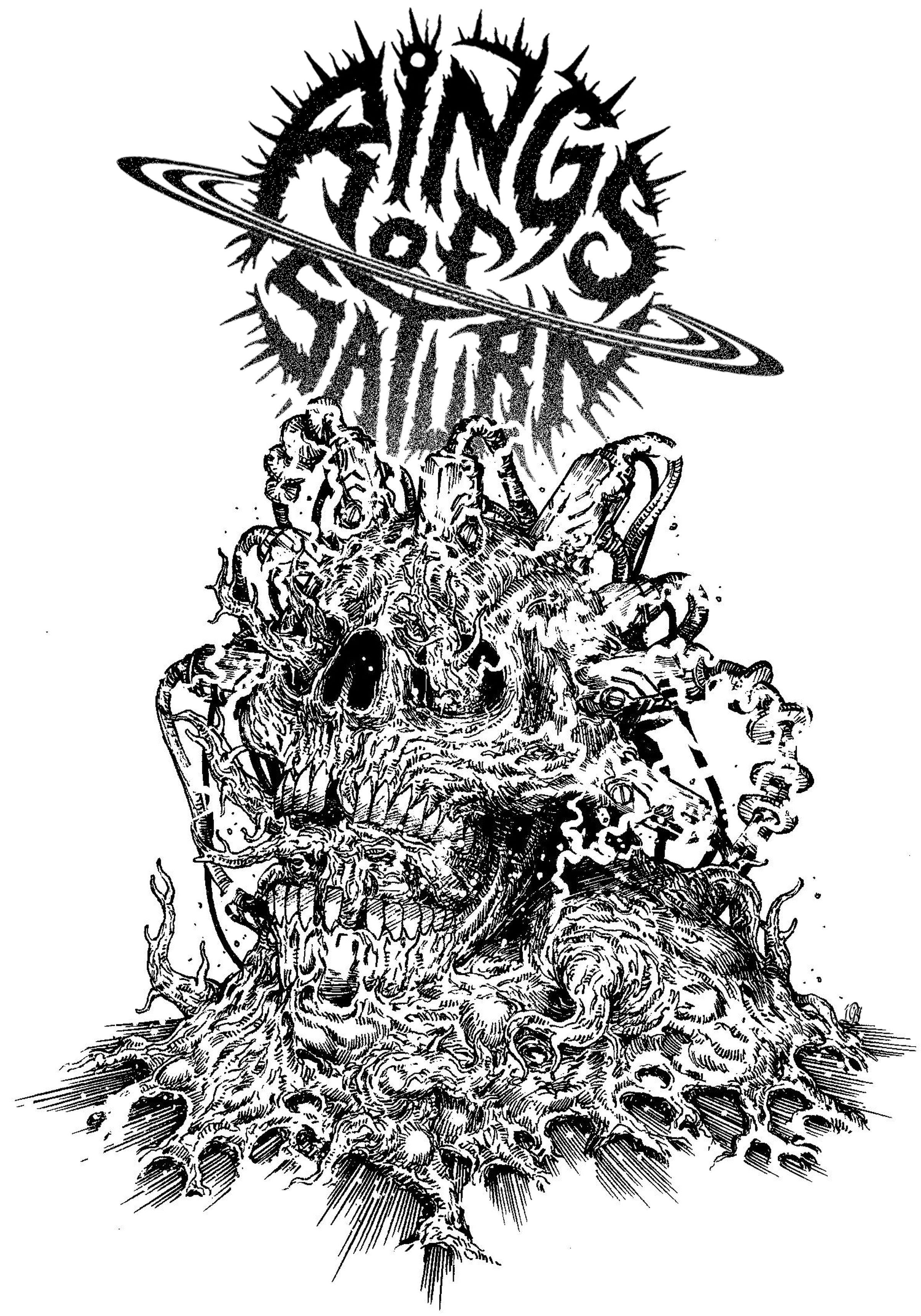 Illus By Leonardo Bimbati For Rings Of Saturn Metal Band Logos