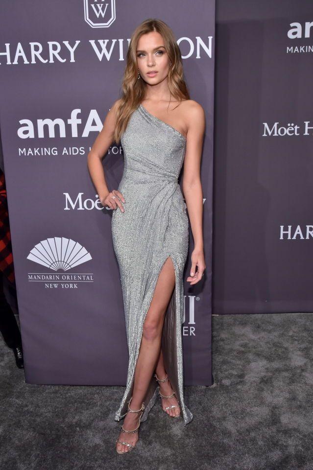 Josephine Skriver attends the 19th Annual amfAR New York Gala on ...