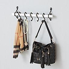 Wall-Mounted Farmhouse Coat Rack, 5 Standard Hooks,Black - United States