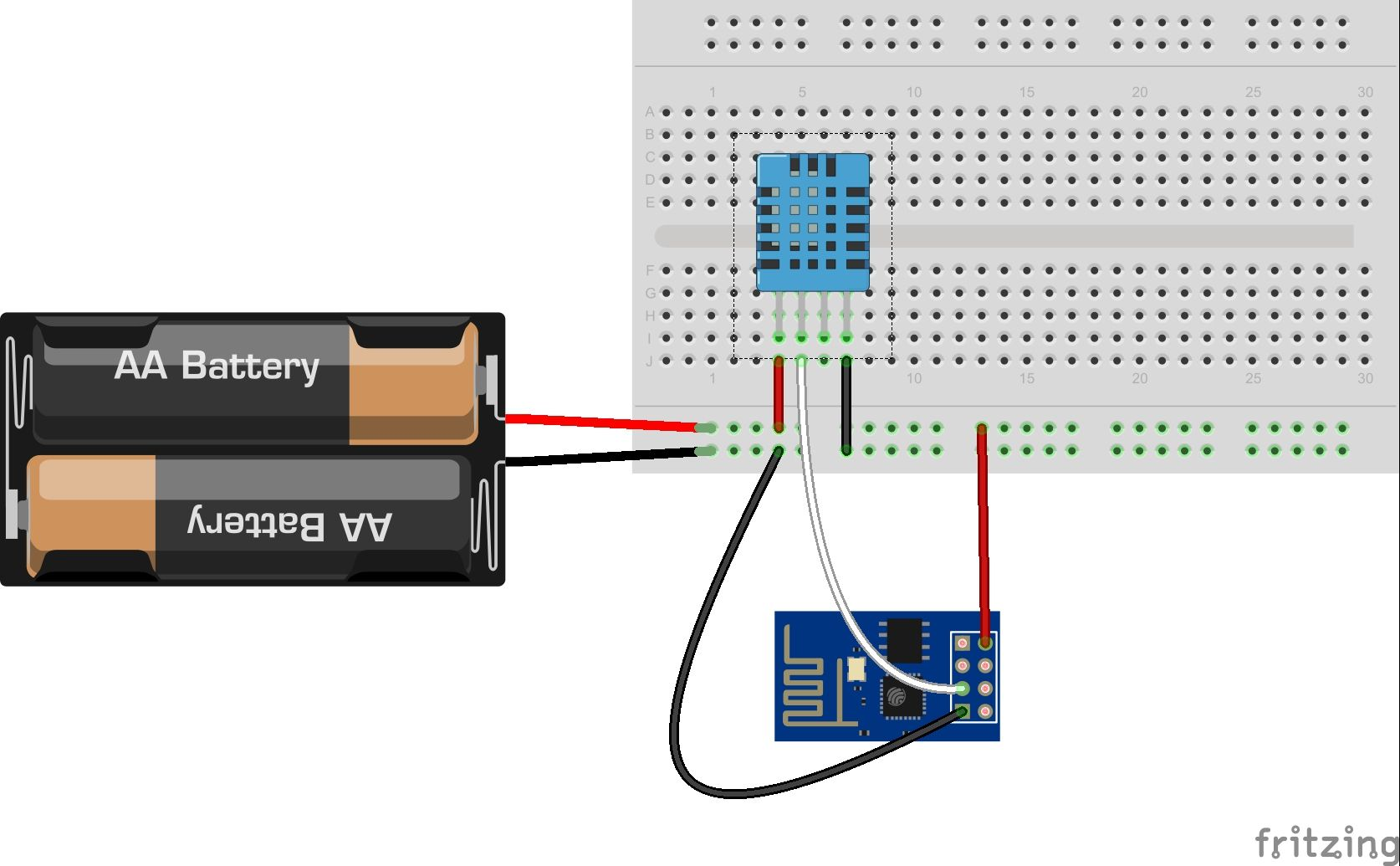 ESP01 thingspeak DTH11 | IOT | Arduino, Electronics projects
