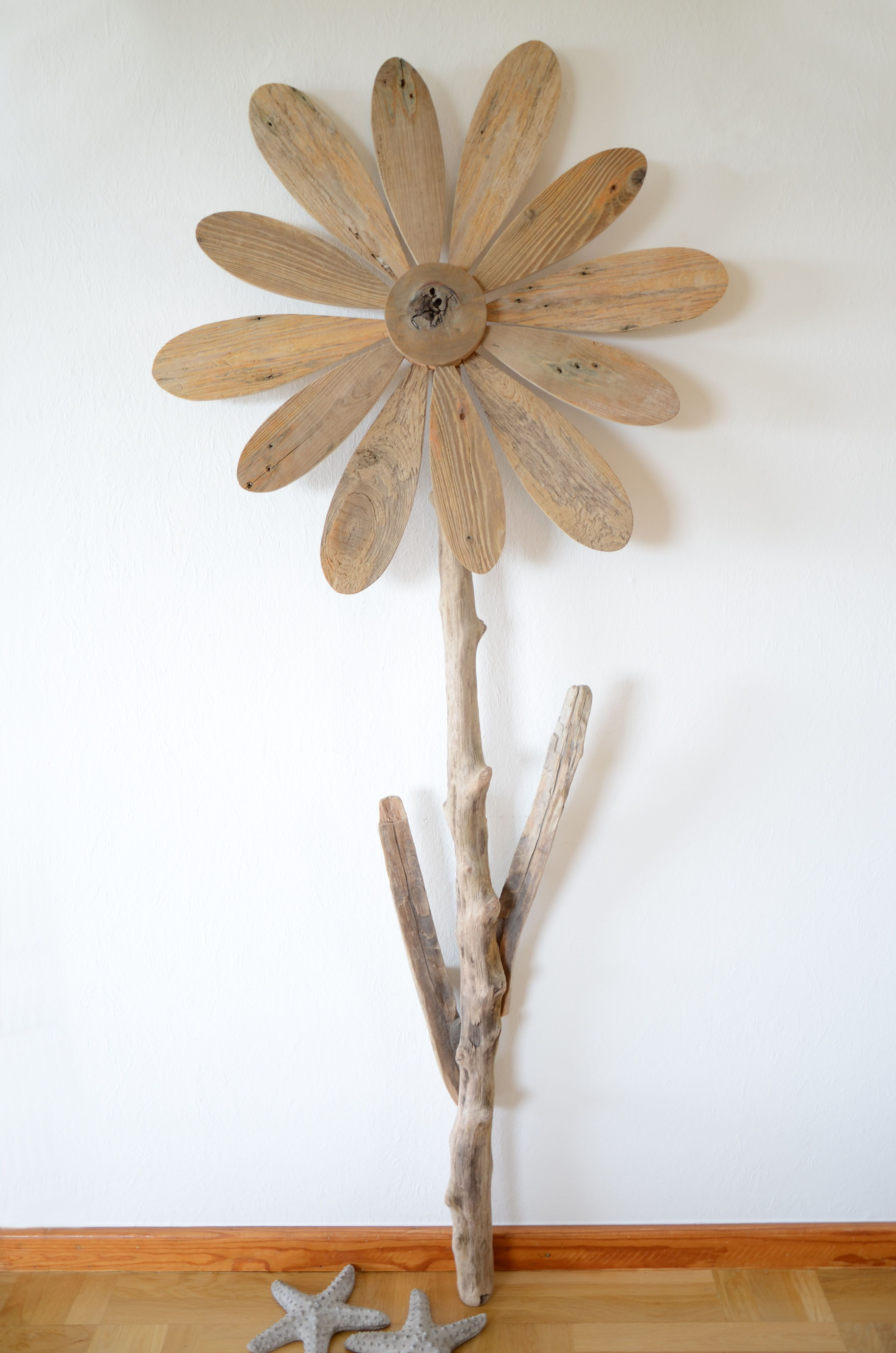 Wanddekoration Treibholz Wanddekoration Treibholz Blume Fortuna Wall Decoration Driftwood