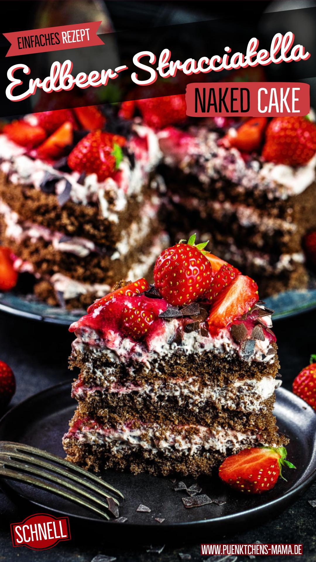 Photo of Erdbeer-Stracciatella-Naked-Cake – Pünktchens Mama Naked Cakes