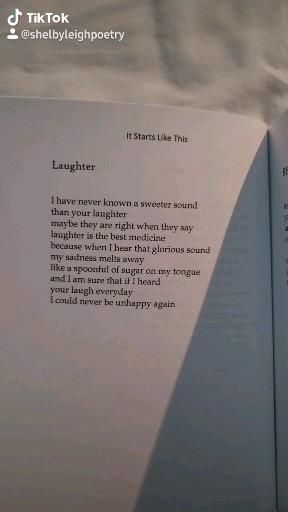 laughter, from 'it starts like this' by shelby lei