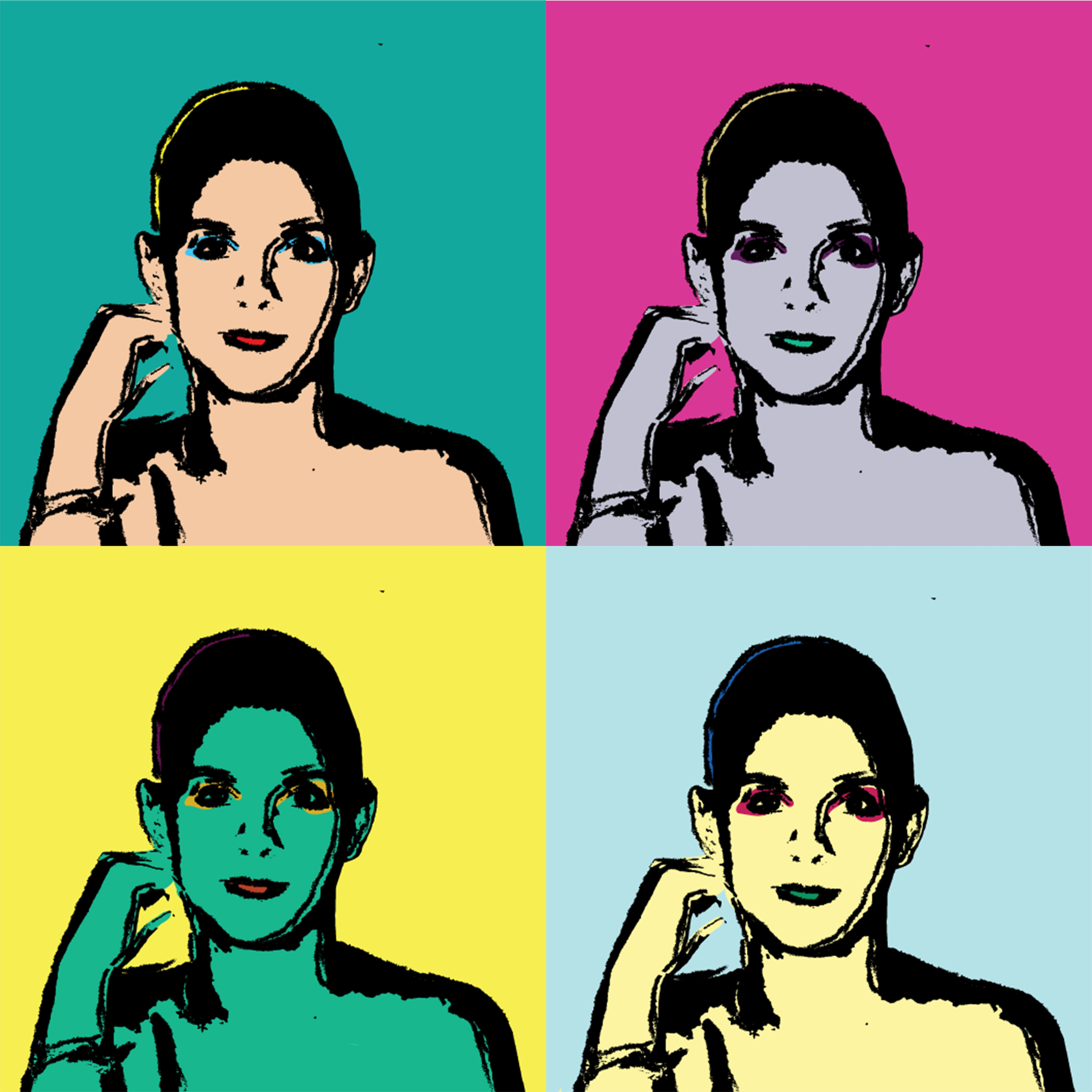 Pop art portrait about myself digital art pinterest pop art pop art portrait about myself solutioingenieria Image collections