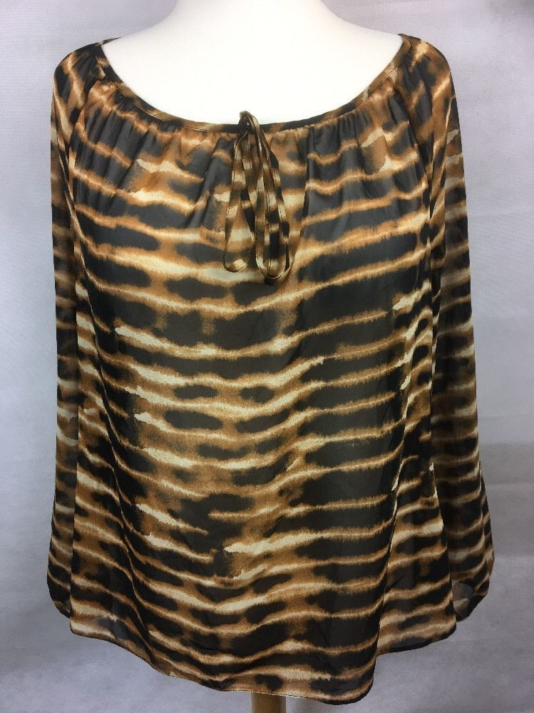 2f98deb79120 Womens Top Black Size 16 Animal Print Sheer Loose Fitting UK A1 #fashion # clothing #shoes #accessories #womensclothing #tops (ebay link)