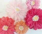 Tissue paper flowers wedding background first child