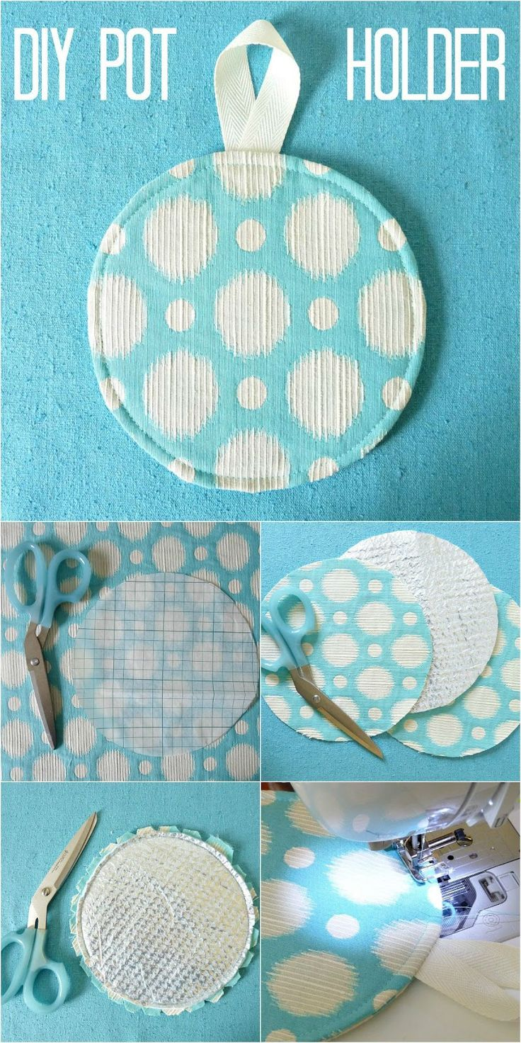 Round Diy Pot Holder With Heat Shield Interior Easy Sewing