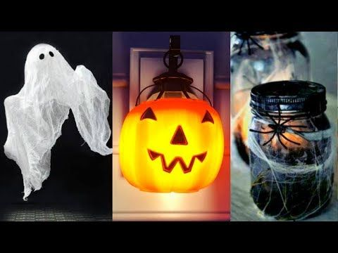 DIY ROOM DECOR! 14 Easy Crafts Ideas at Home for Halloween - YouTube - how to make halloween decorations youtube
