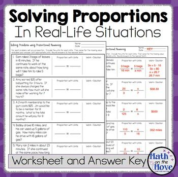 Proportions Word Problem Worksheet Freebie Bulletin Board Math