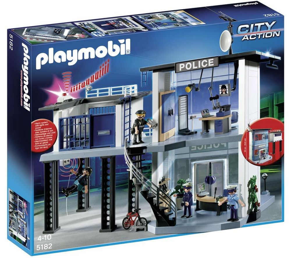 playmobil commissariat de police jouets pas cher. Black Bedroom Furniture Sets. Home Design Ideas