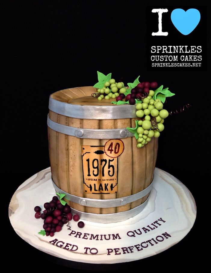 wine barrel cake sprinkles custom cakes sprinkles custom cakes pinterest motivtorten. Black Bedroom Furniture Sets. Home Design Ideas