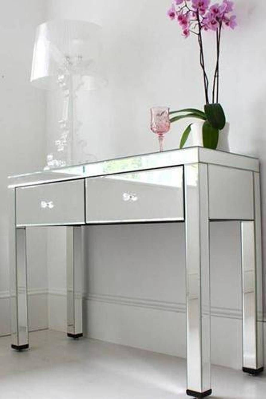 furniture console table with drawers mirrored console table with drawers with vase and. Black Bedroom Furniture Sets. Home Design Ideas