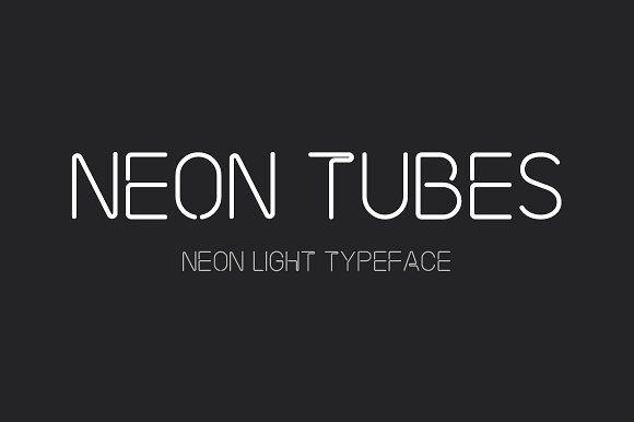 Neon Tubes Neon Light Font Light Font Sign Fonts Neon
