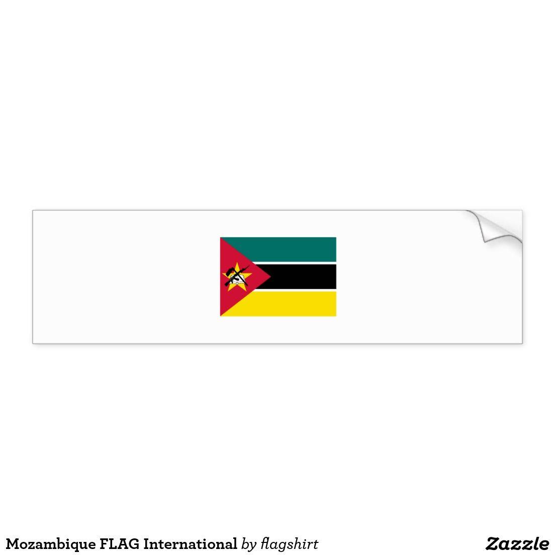 Mozambique Flag International Bumper Sticker Zazzle Com Bumper Stickers Mozambique Flag Strong Adhesive [ 1104 x 1104 Pixel ]