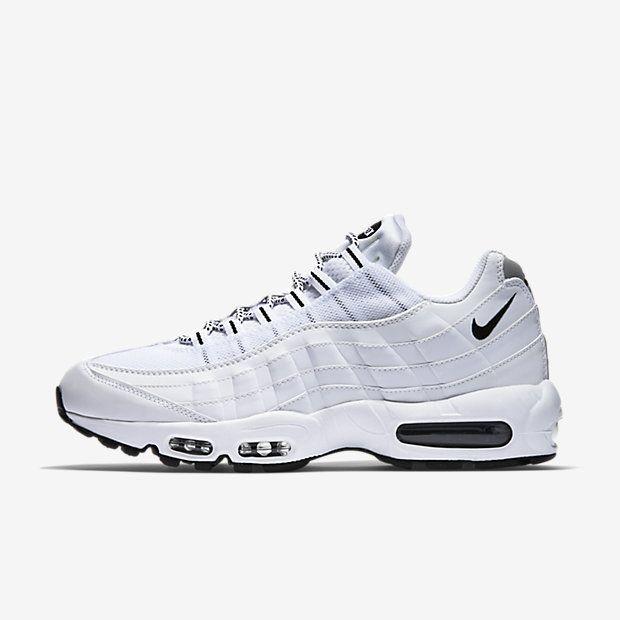 Chaussure Nike Air Max 95 Pas Cher Homme Blanc Noir Noir Bienvenue ...
