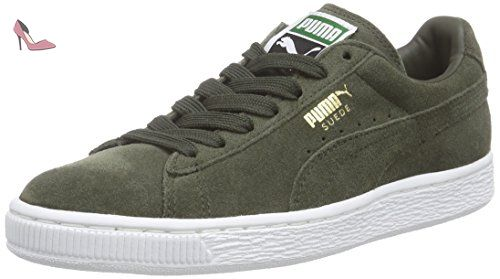 Puma Suede Classic +, Sneakers Basses Homme Gris (forest