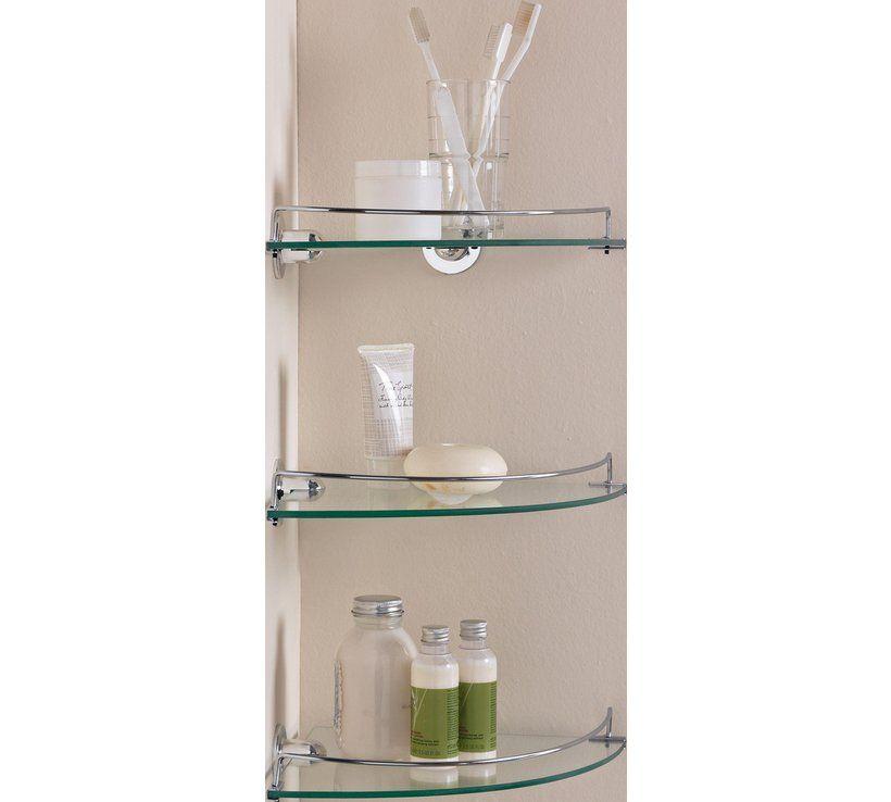 Buy Argos Home Set Of 3 Glass Corner Shelves Bathroom Shelves