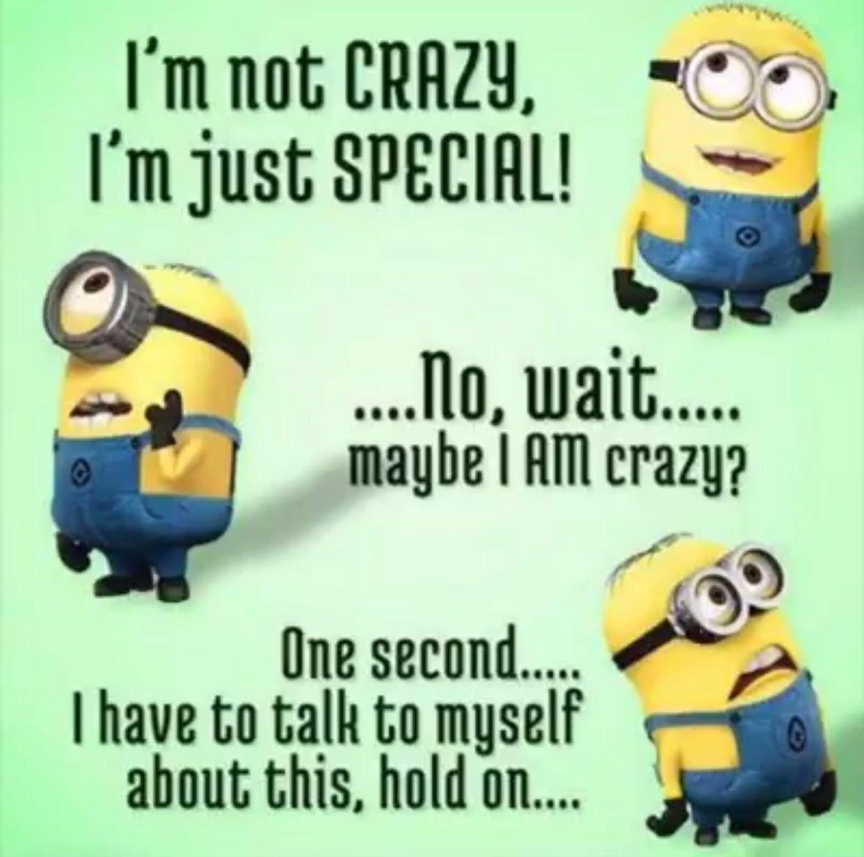 Minions I M Not Crazy Quote: Funny Minion Memes