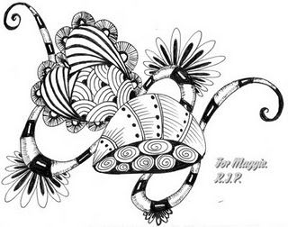 For Maggie, dear Etsy friend, who died for leukemia.... #zentangle #doodle #heart