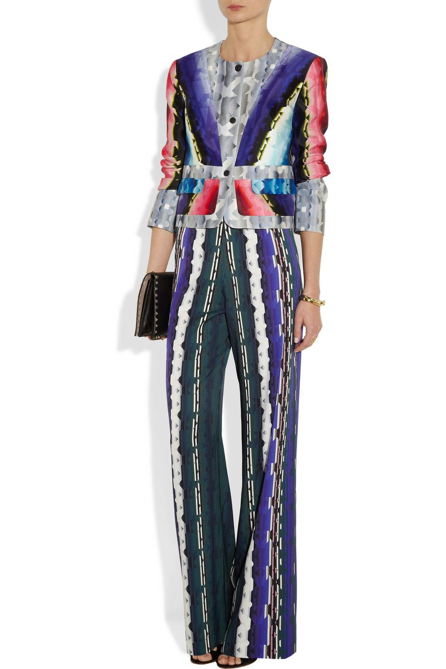 Peter Pilotto|Printed stretch-silk wide-leg pants|NET-A-PORTER.COM