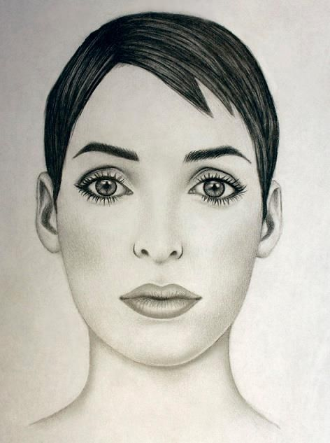 pencil drawing of Winona Ryder