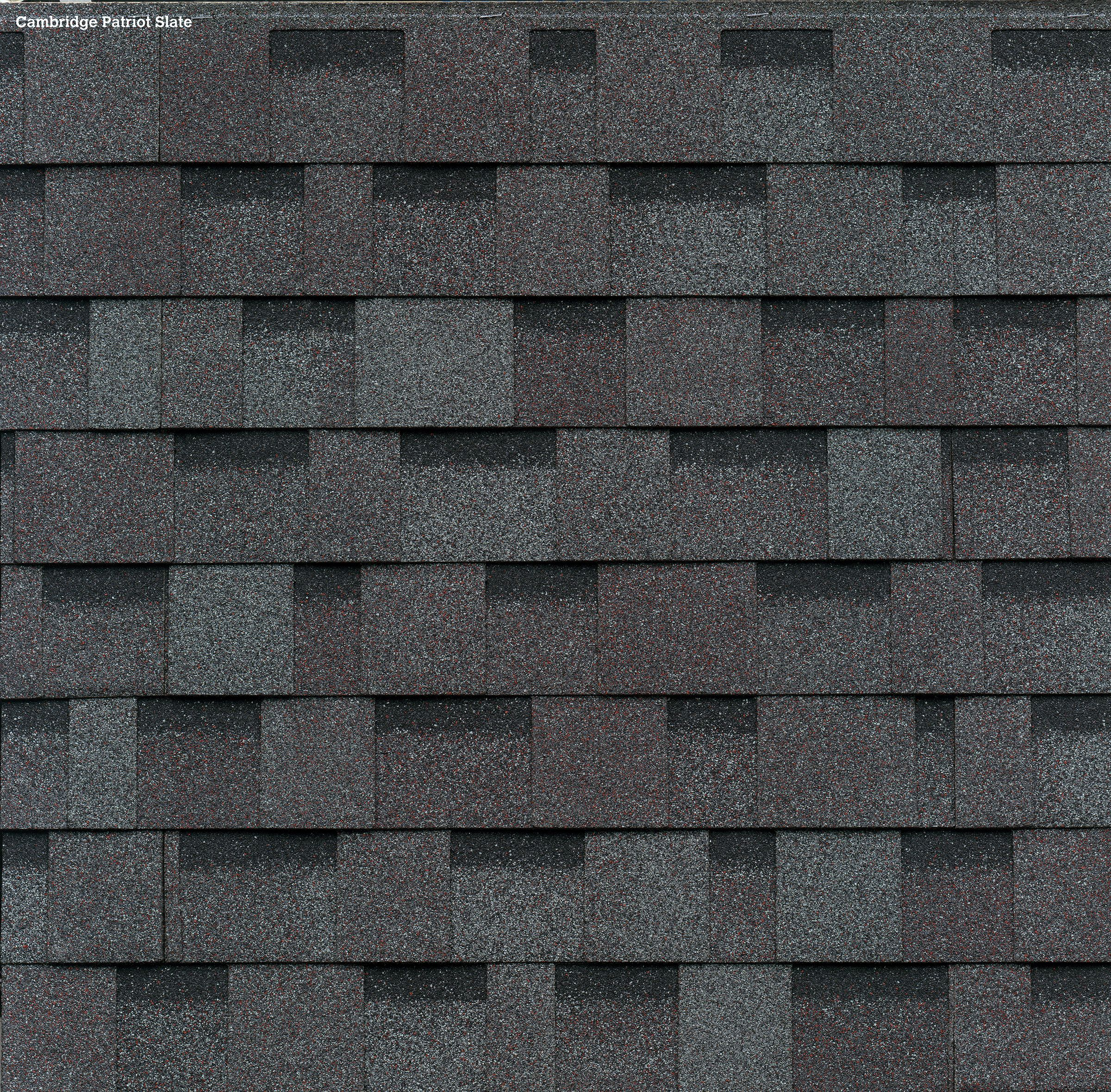 Iko Cambridge Patriot Slate Swatch In 2020 Architectural Shingles Shingling Residential Roofing Shingles
