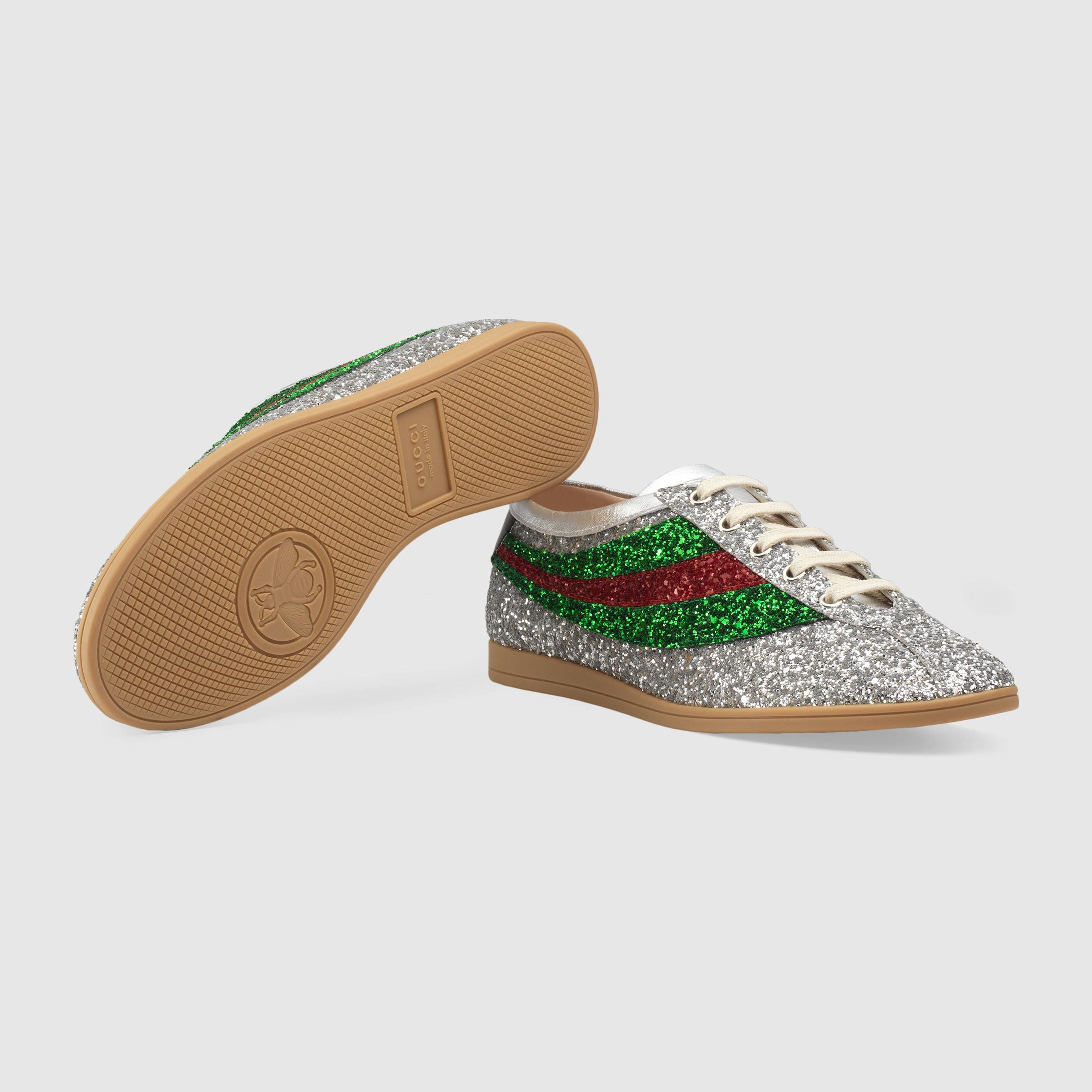 b27f2d65e8a  720 GUCCI Falacer 系列 glitter sneaker with Web - SOLD by GUCCI - affiliate  - The