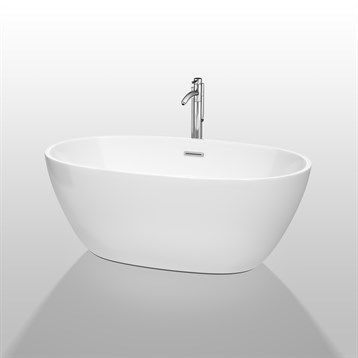 """$1299 59""""  Buy Juno 59"""" Soaking Bathtub by Wyndham Collection - White at ModernBathroom.com. Get free shipping and factory-direct savings on Juno 59"""" Soaking Bathtub by Wyndham Collection - White."""