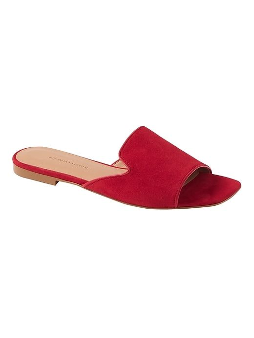 c38ef583626 Banana Republic Womens Loafer Slide Ruby Red Suede