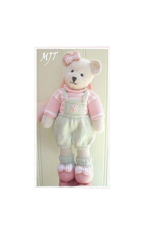 CANDY Bear/ Toy/ Teddy Bear Knitting Pattern/ PDF/ Plus Free ...