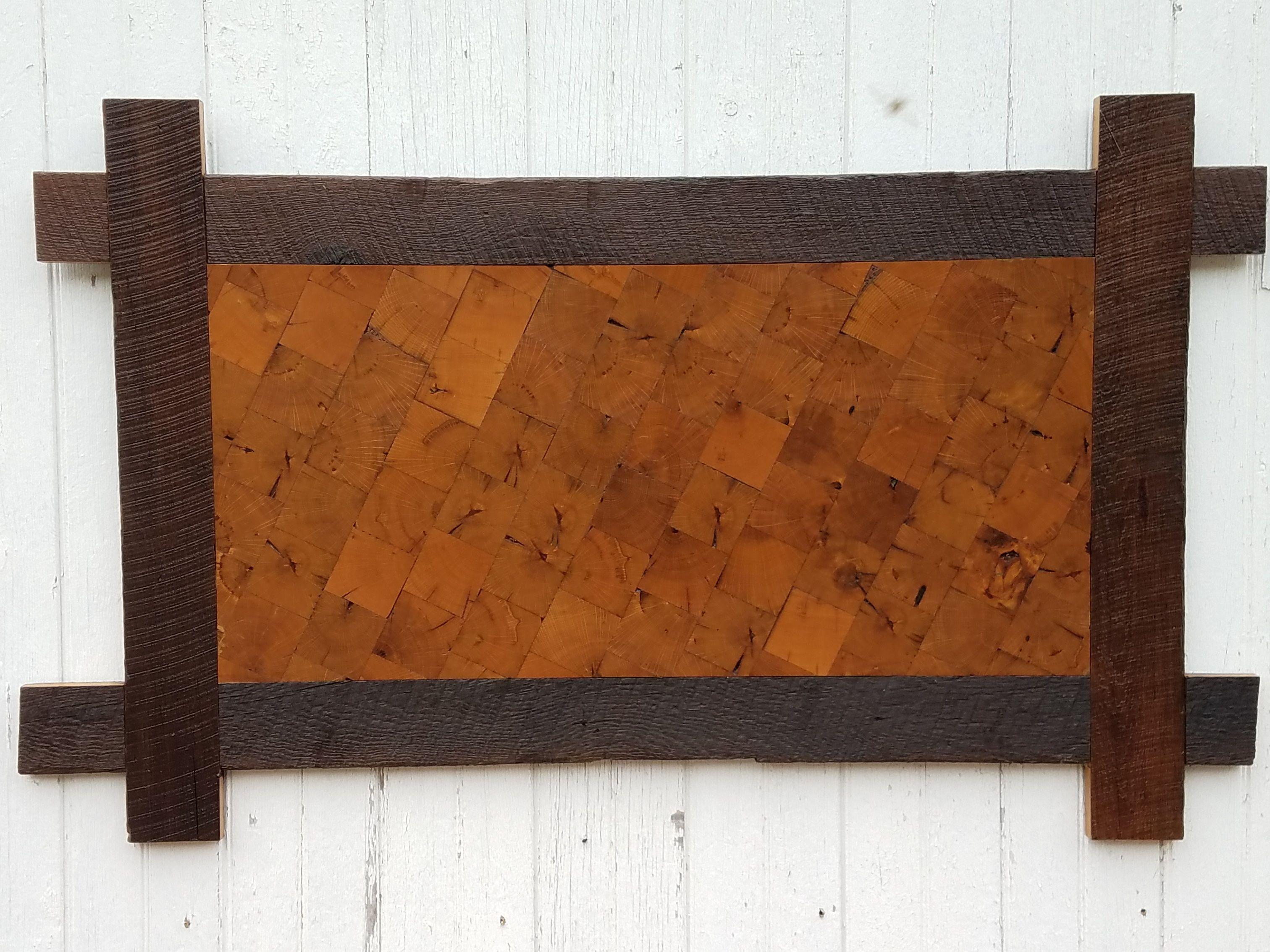 Reclaimed Oak Wall Art 32 L X 52 W, Woods,
