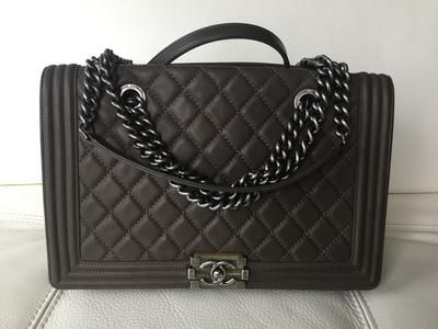 Chanel Boy Bag Mocha Brown Quilted Neiman Marcus Exclusive Lollipuff