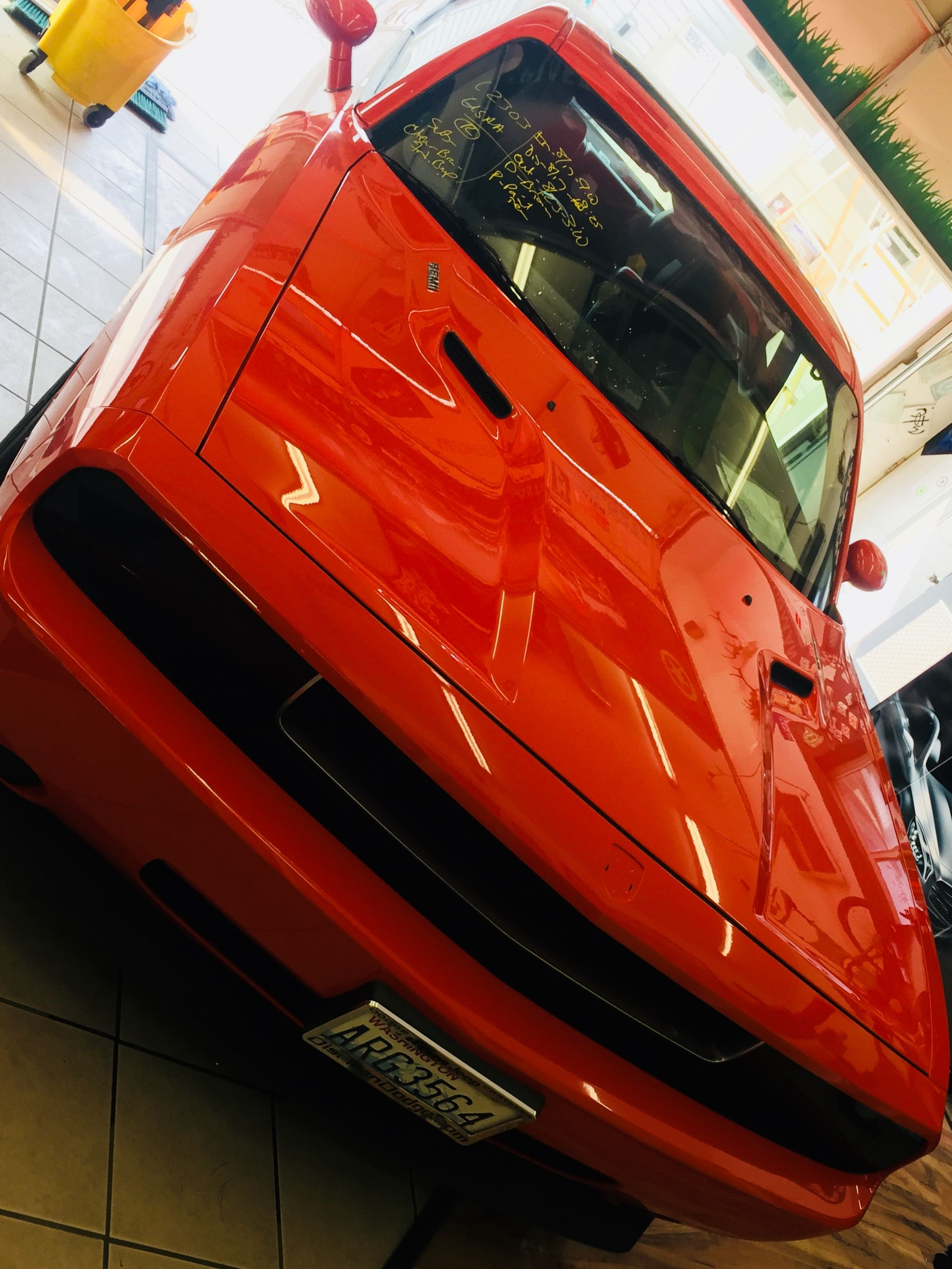 Beautiful Orange Camaro We Installed Some Clear Bra Protection