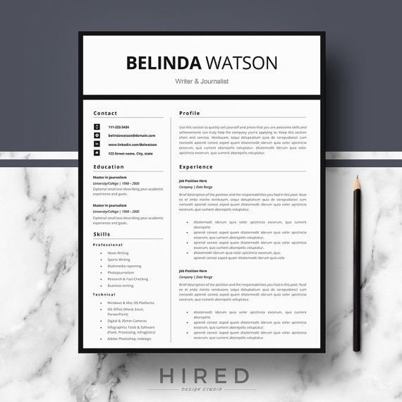 Professional Modern And Minimalist Resume Template For Word