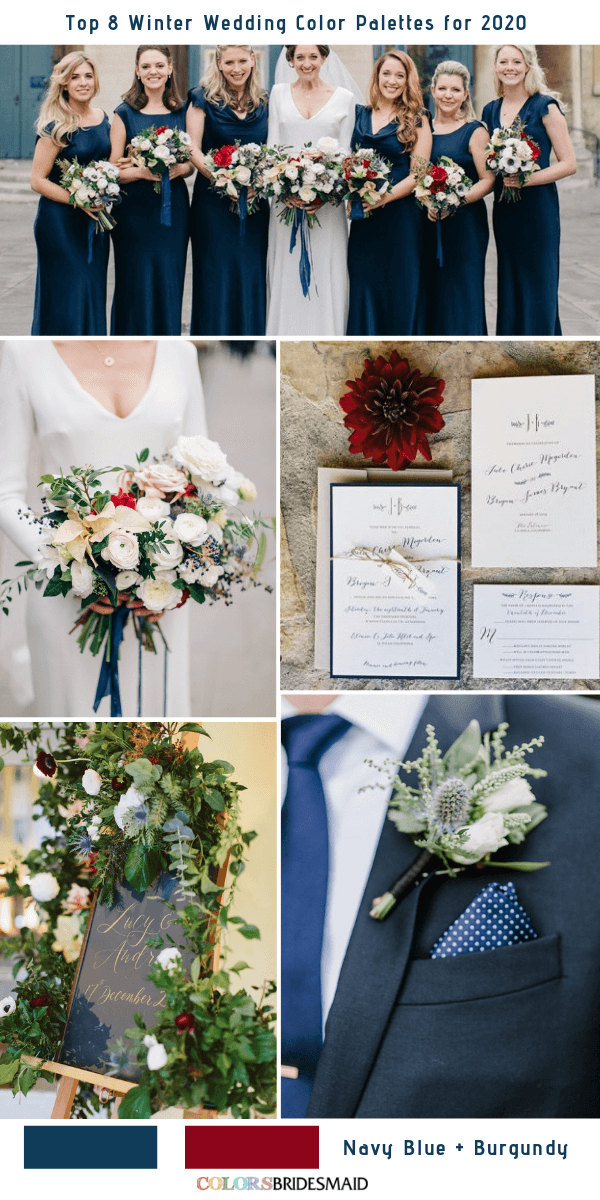 Top 8 Winter Wedding Color Palettes for 2020 Winter