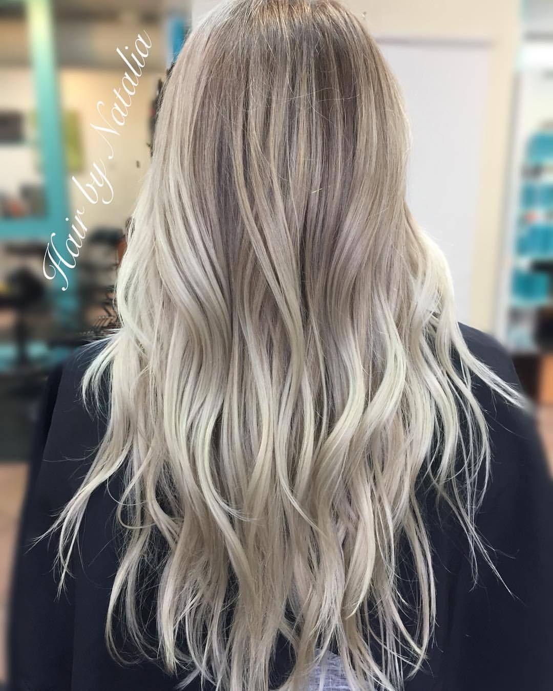 Ashy blonde balayage rooted blonde balayagedenver denverhair