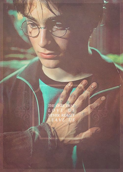 """""""The ones that love us never really leave us"""" - Sirius Black"""