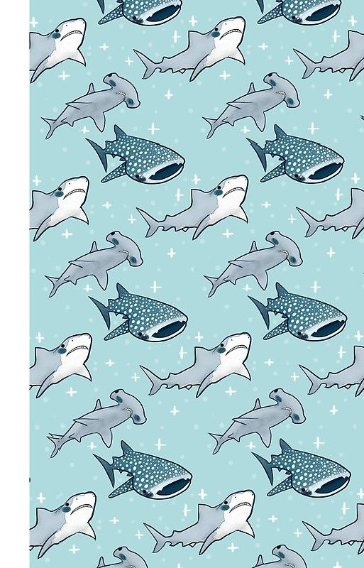 Shark Pattern iPhone Case & Cover Cute wallpaper